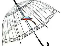 Зонт прозрачный, купольный (зонт-трость)