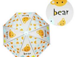 Зонтик детский METR+ трость (Мишка) (MK 4115-2)
