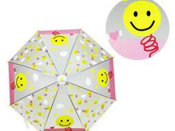 Зонтик детский METR+ трость (Смайлик) (MK 4115-3)
