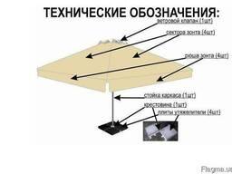 Зонты для кафе троссовые 4х4, 3х3