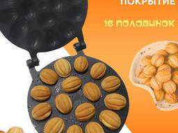 Орешница с антипригарным / тефлоновым покрытием на 16 орехов с начинкой